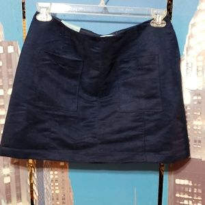 Old Navy Skirts - Old Navy Nwt* ladies blue suede skirt